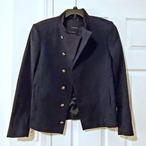 Black Tag Zara Man Blue Military Bomber Jacket